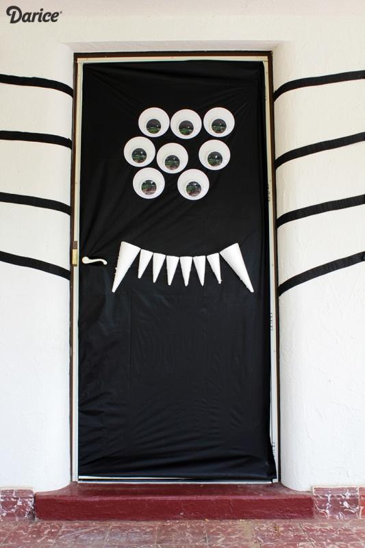 Halloween Door Decorations DIY Silly Spider