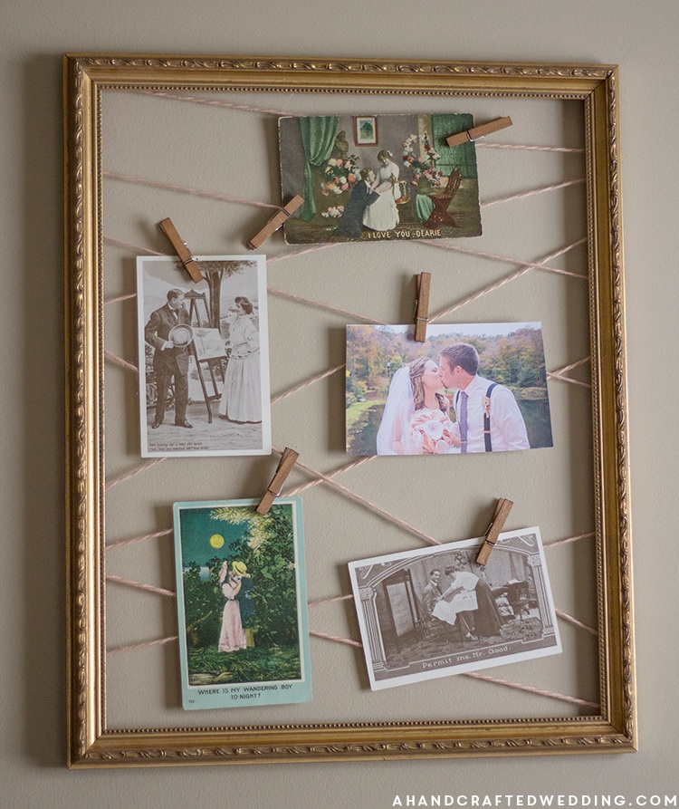 DIY Yarn Clothespin Frame