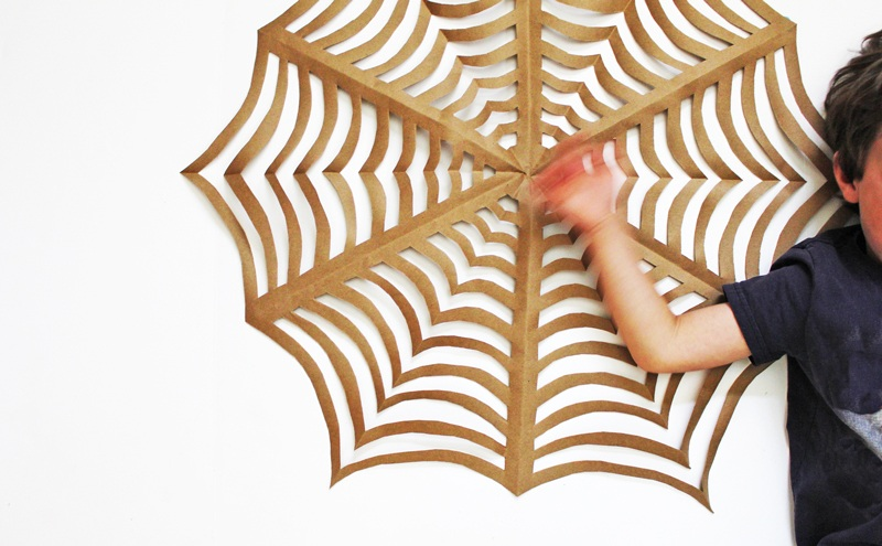 Halloween Craft GIANT Kirigami Spider Webs