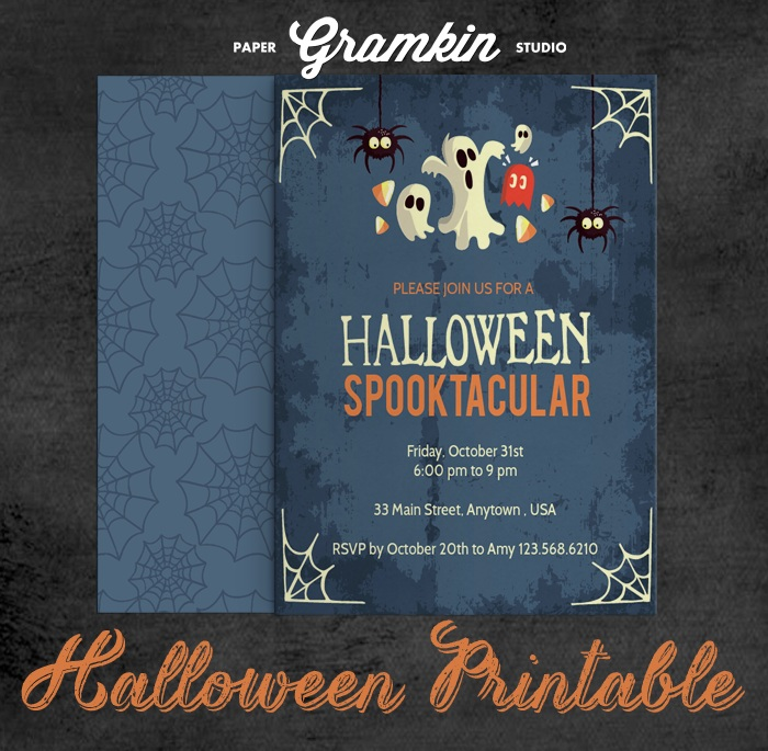 DOWNLOAD DAY Halloween Invitation Printable 2014