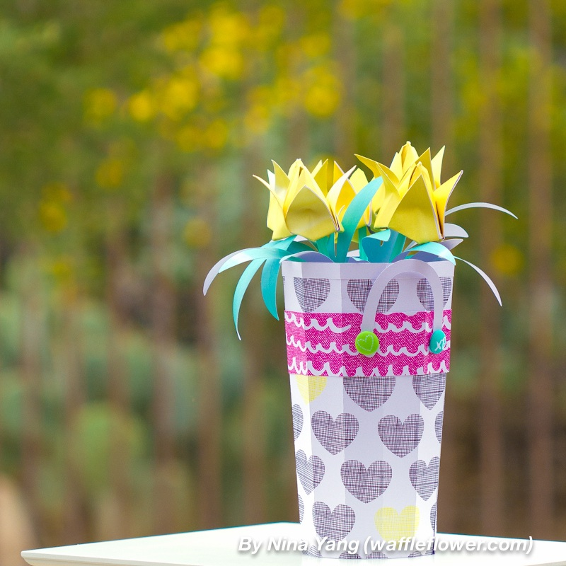 Spring Party Home Decoration Tulip or Pinwheel? Waffle Flower
