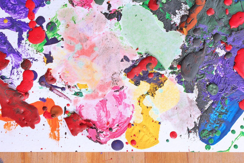 Easy Art for Kids Crayon Painting