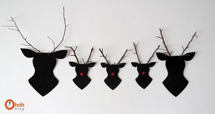 diy and crafts Twigs Reindeer