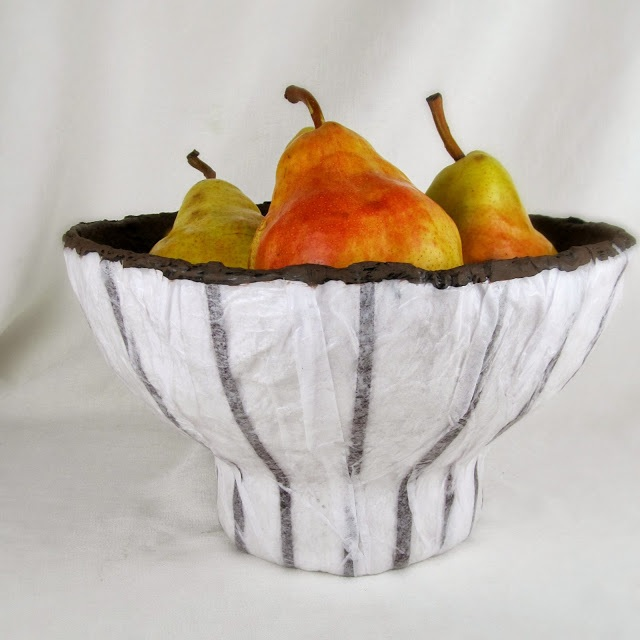 Footed Plaster Craft Bowl