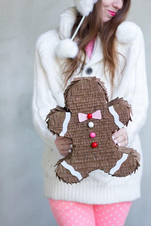DIY Gingerbread Man Pinata