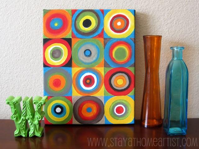 concentric circles canvas art...