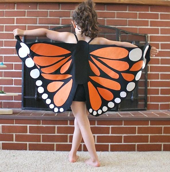 Felt Monarch Butterfly Wings (Tutorial)