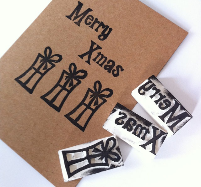 Guest Post DIY Christmas Stamps