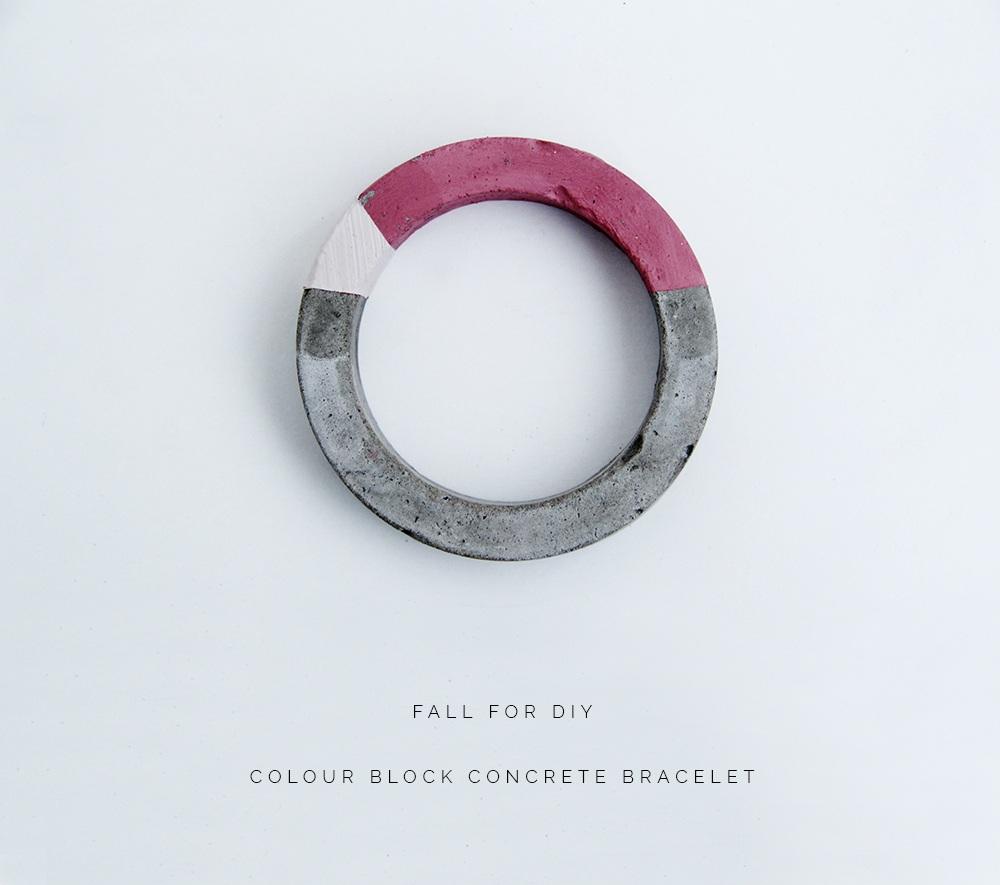 DIY Concrete Bracelets