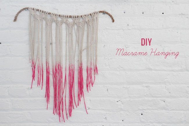 DIY Macrame Hanging