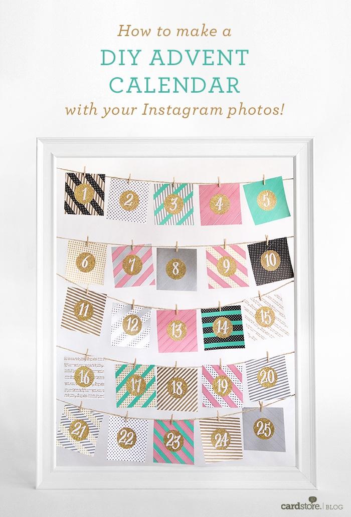 How to make a DIY advent calendar with your Instagram photos