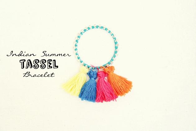 DIY Indian Summer Tassel Bracelet