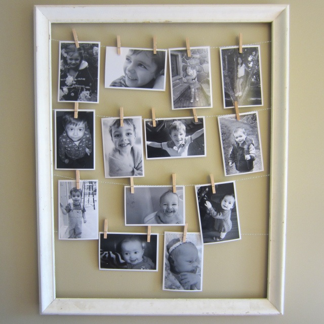 Clothes Line Picture Frame (For Mothers Day!!!!)