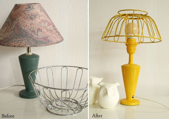 DIY Fruit bowl lamp