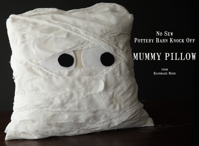 No Sew Pottery Barn Knock Off Mummy Pillow