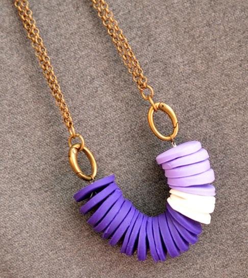 Violet Necklace #RainbowHop14