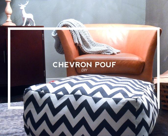 DIY Chevron Pouf Tutorial (AKA a Dogs Cozy Day Bed)