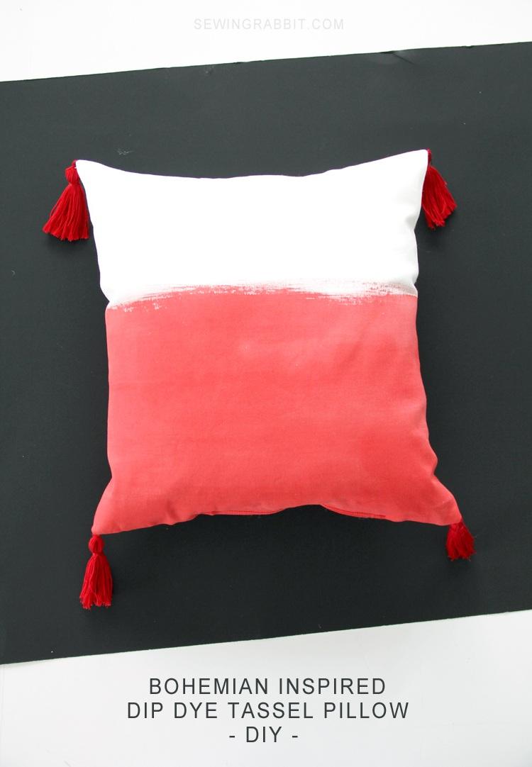 Bohemian Tassel Pillow DIY The Sewing Rabbit