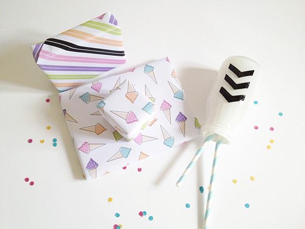 Make + give Printable ice cream gift wrap