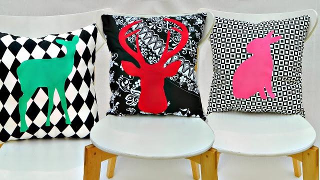 Graphic Animal Silhouette Pillows DIY