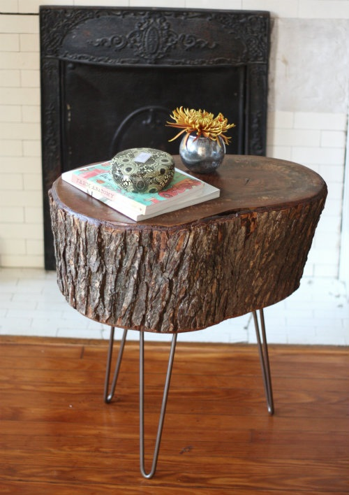 How To DIY Stump Table
