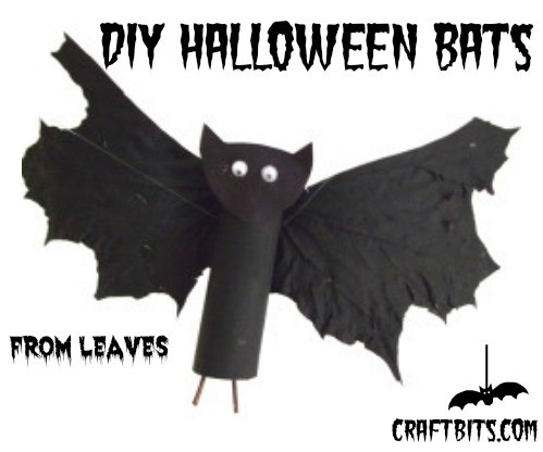 Halloween Bats Made From Leaves