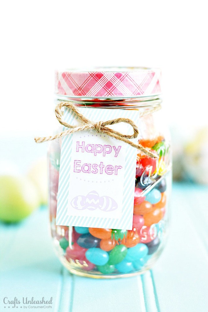 Easter Gifts Last Minute Mason Jar Treats With Free Printable