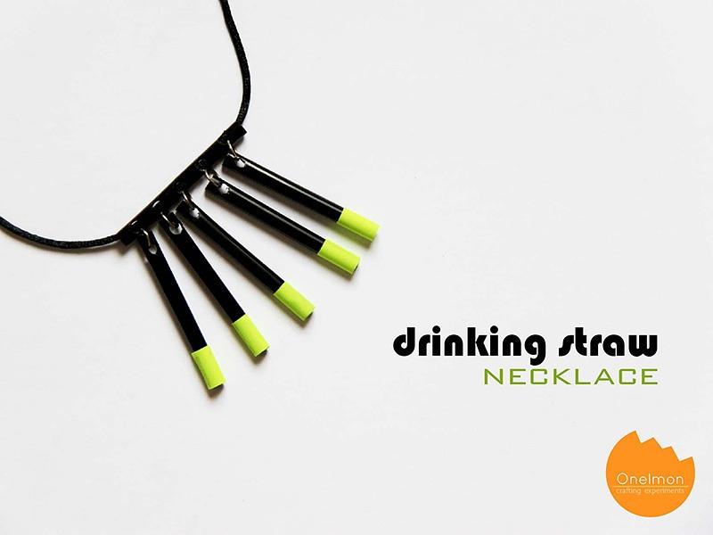 DIY Tutorial Drinking Straw Necklace