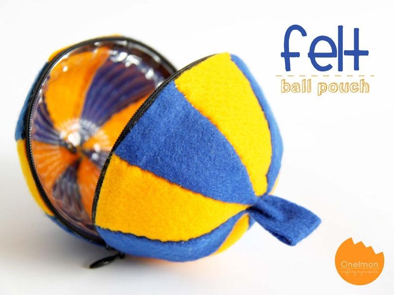 DIY Tutorial Felt Ball Pouch