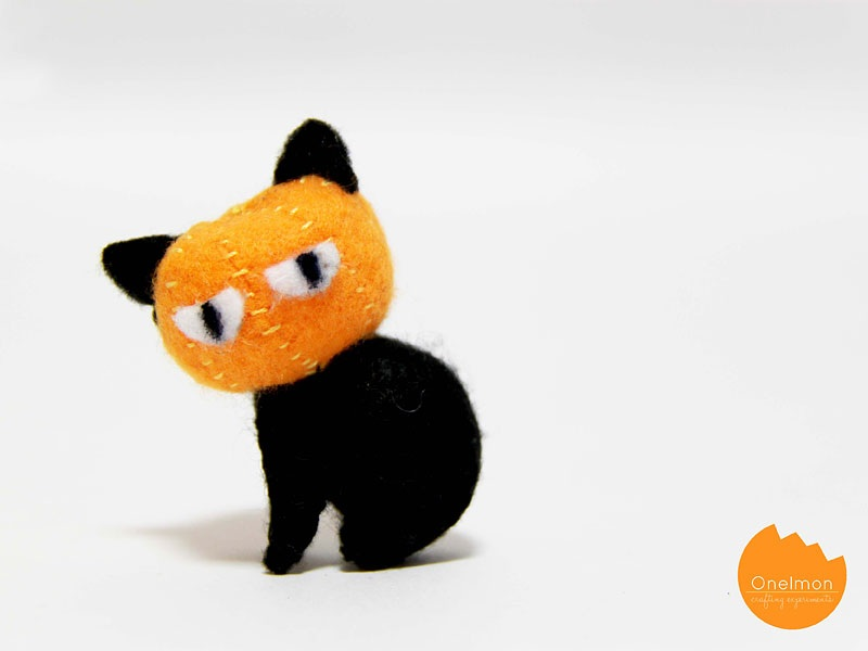 DIY Tutorial Pumpkin Cat