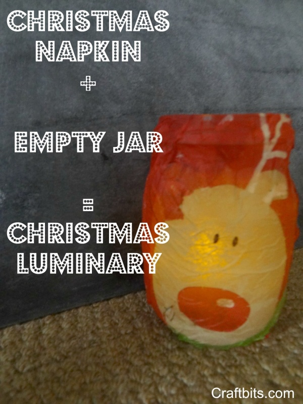Christmas Luminary Mason Jar Idea