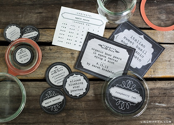 Printable Freezer and Canning Labels