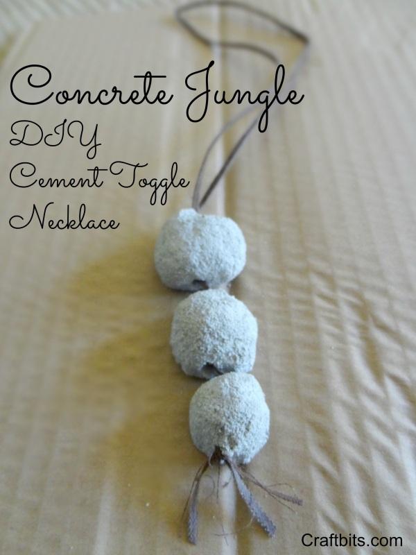 DIY Concrete Jungle Bead Necklace �� craftbits.com