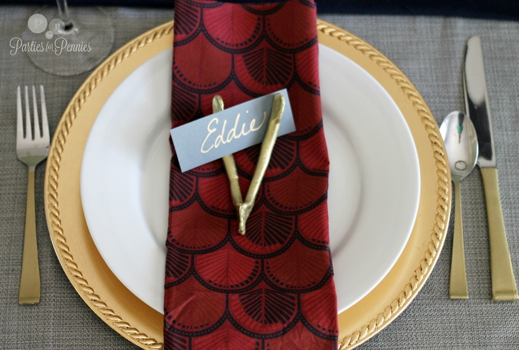 DIY Golden Silverware Parties for PenniesParties for Pennies