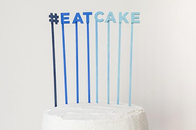 DIY Make your own custom cake topper sayings!