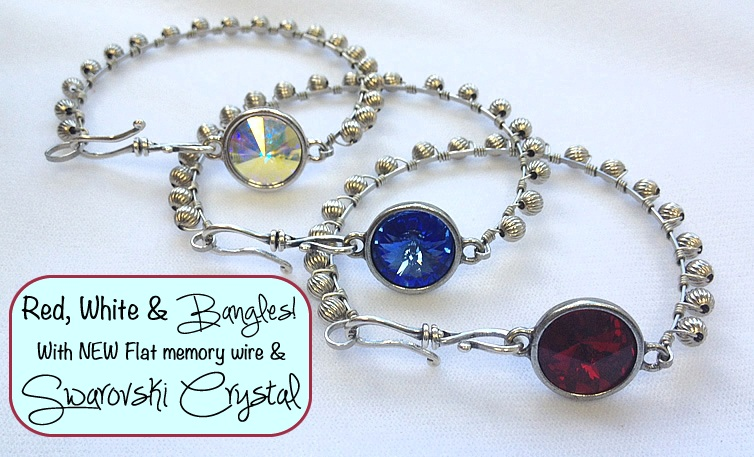 Red, White and Bangle Bracelets!