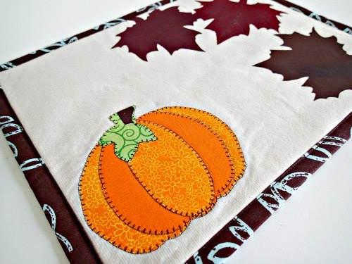 Autumn or Fall mug rug pattern So Sew Easy