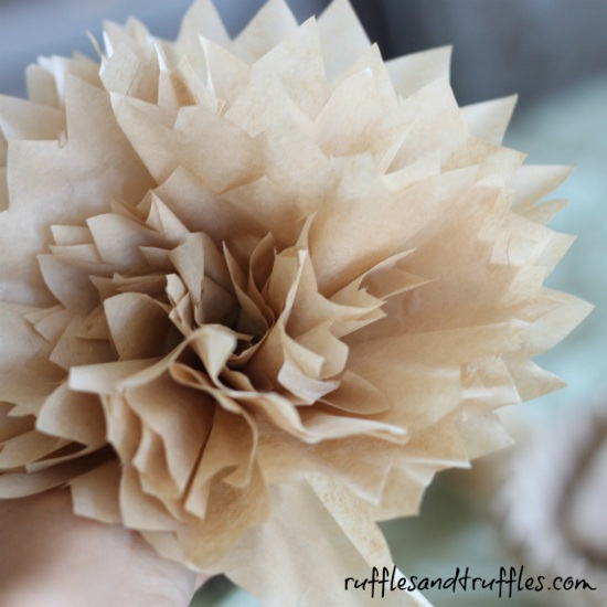 DIY Coffee Filter Peony Tutorial
