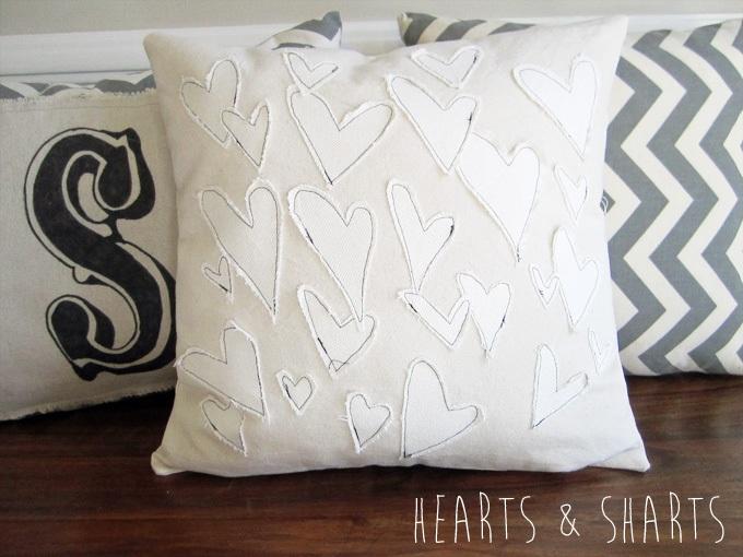 Anthro Inspired Heart Pillow