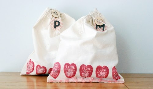 Reaves, party of four DIY Valentine's treat bags