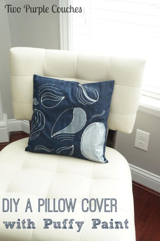 Puffy Paint DIY Throw Pillow