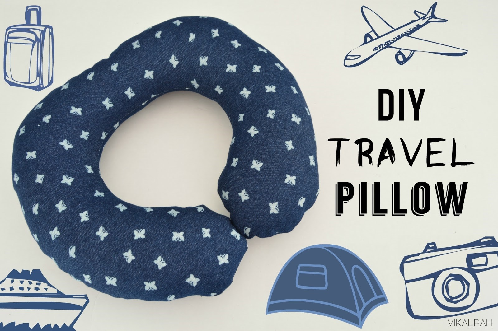 DIY Travel Pillow (DIY Pattern included)