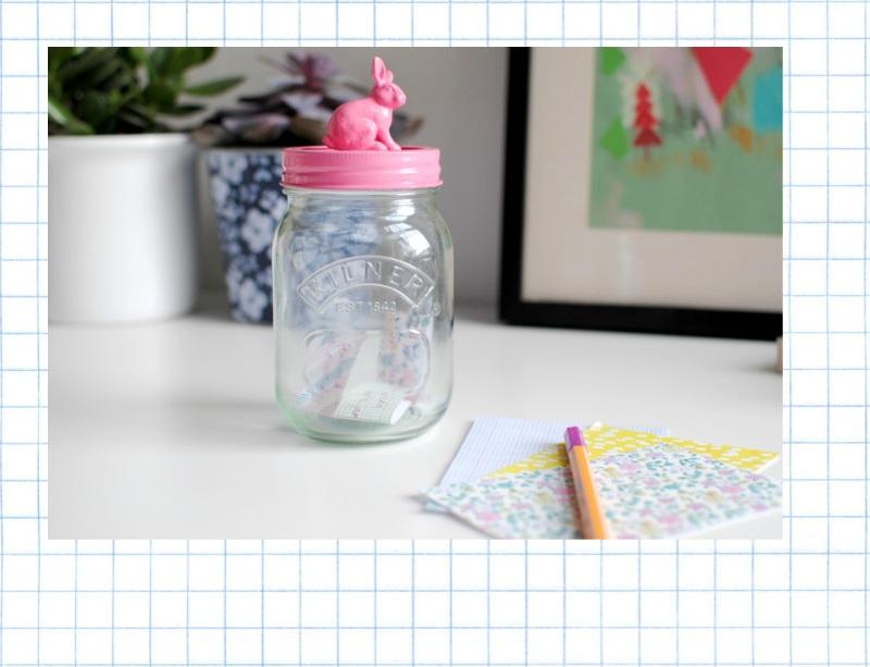DIY good things bunny jar