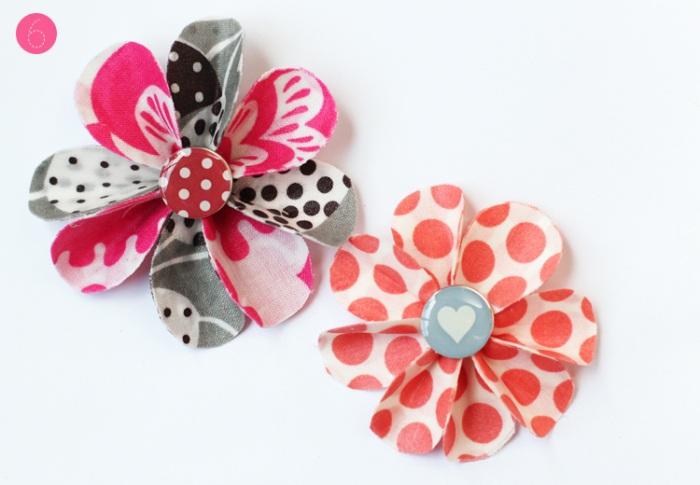 Decoupage Fabric Flowers