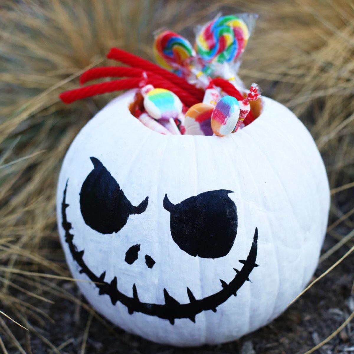 Jack Skellington Pumpkin Bowl