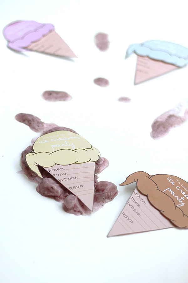 Squirrelly Minds » Print Ice Cream Party Invites
