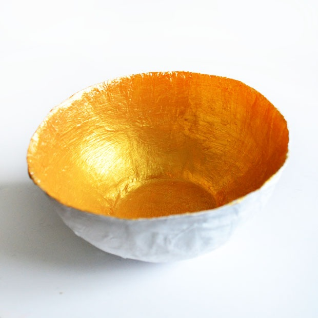 Pot of gold – papier mache jewelry bowl Make A Cute Thing Every Day