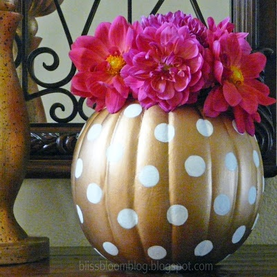 [Make] Polka Dot Pumpkin Vase
