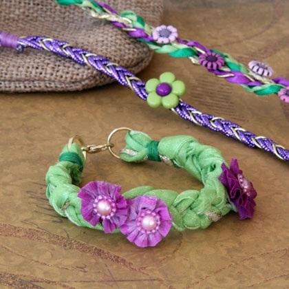 Rapunzel's Braided Ribbon Bracelets