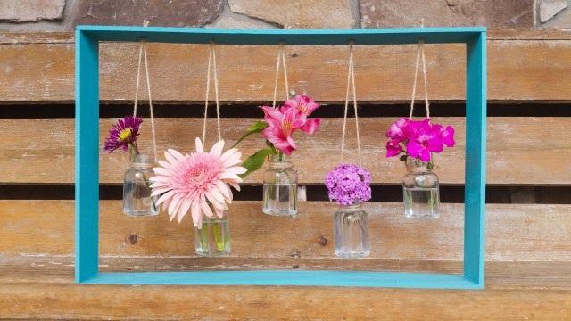 DIY Hanging Vases